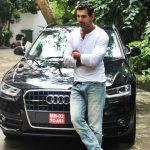 John-Abraham-With-His-Car-Audi-Q3