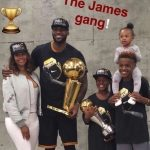 LeBron-James-with-wife-son-and-daughter