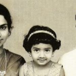 Sridevi as a child with her Father and Mother