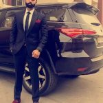Parmish-Verma-with-his-Fortuner-Car