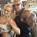 Rich-Piana-with-his-wife-Sara-Piana