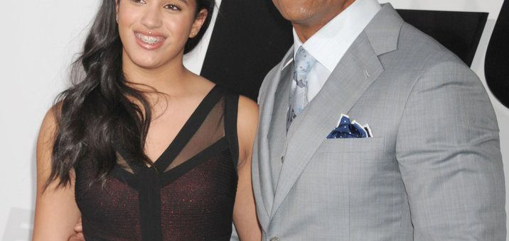 Simone Alexandra Johnson and her father Dwayne johnson